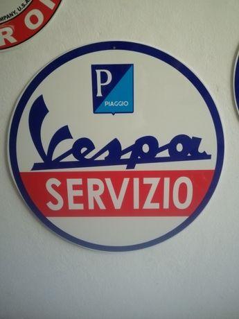 Placa publicitária Vespa Servizio