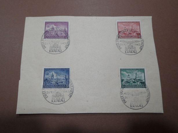 znaczki pocztowe gg kasownik okolicznościowy generalna gubernia 92-95