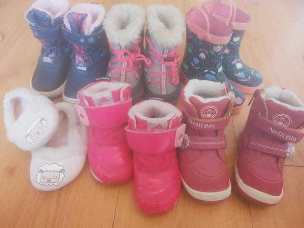 Buty kalosze zimowe kozaki śniegowce kapcie 23