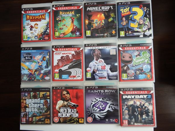 GRY PS3 MINECRAFT RAYMAN Uncharted FIFA18 GTA5 Strzelanki Przygoda