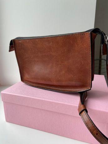 Шкіряна сумка на замку