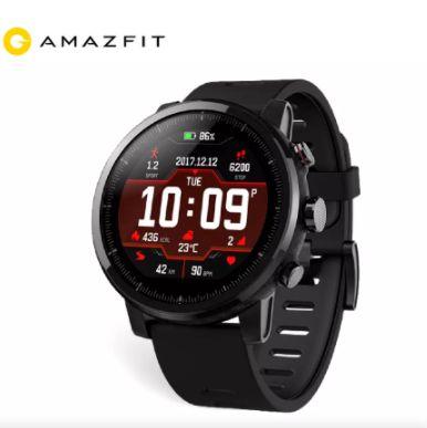 Смарт-часы Amazfit Stratos с Bluetooth, GPS, GLONASS, Пульсометром