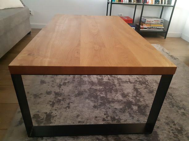 Stół stolik kawowy industrialny minimalizm drewniany