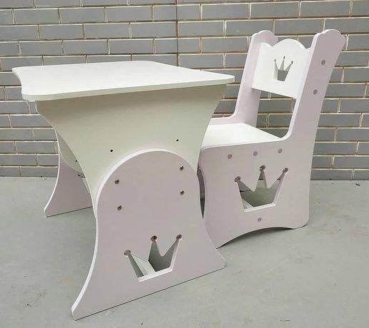 Столик и стульчик для творчества, детская мебель