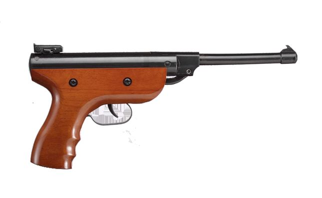 Pistolet -wiatrówka 4,5mm-drewno