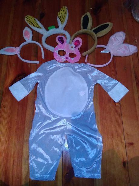 Маскарадный костюм наряд зайчика зайки на 6-9 месяцев, 74 см Tesco