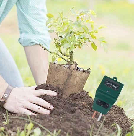 Aparelho para verificação solo do jardim ou plantas no interior casa