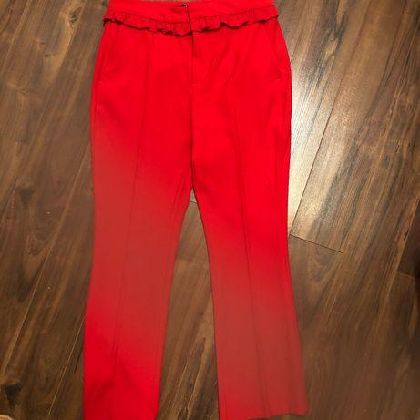 Czerwone spodnie Zara
