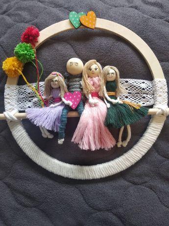 Portret rodzinka handmade