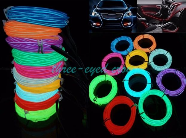 Подсветка панели, обшивки автомобиля - холодный неон 2-го поколения 2