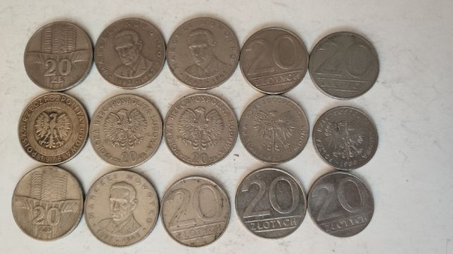Zestaw 15 monet 20zł PRL