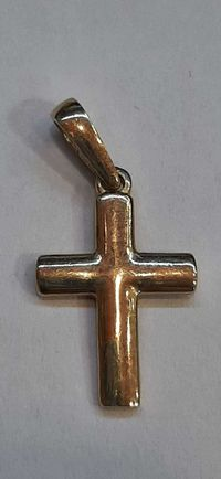 Złoty krzyżyk 14 k/585 0,85 g --- Lombard Madej Gorlice ---
