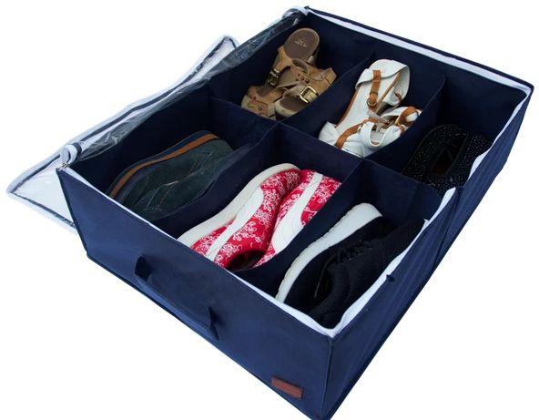 Органайзер для обуви на 4 пары синий