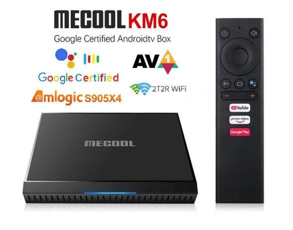 Mecool KM6 Classic Android TV 10 S905X4 Сертифицирован Настроена 4900р