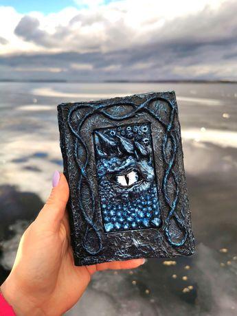 Блокнот глаз дракона гримуар в готическом стиле скетчбук ежедневник