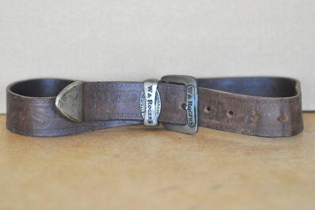 Skórzany pasek do spodni - W&Rogers, mały rozmiar.