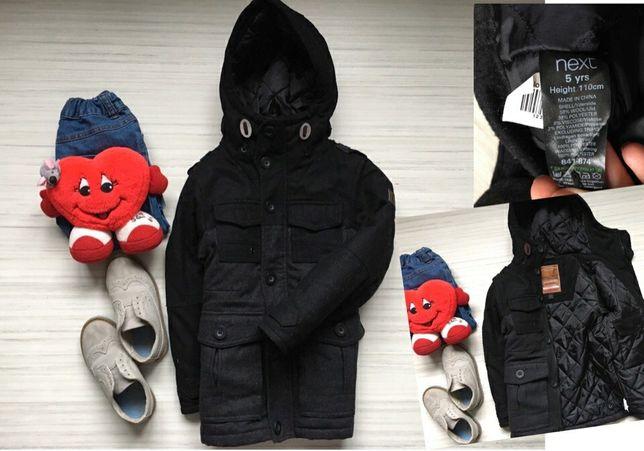 Демисизоное пальто, куртка Next,для мальчика, возраст  5 лет