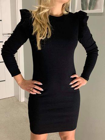 Sukienka czarna prążkowana