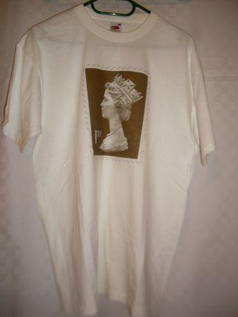 kw tylko 6,80 Bluzka aplikacja znaczka z królową UK T-shirt koszulka