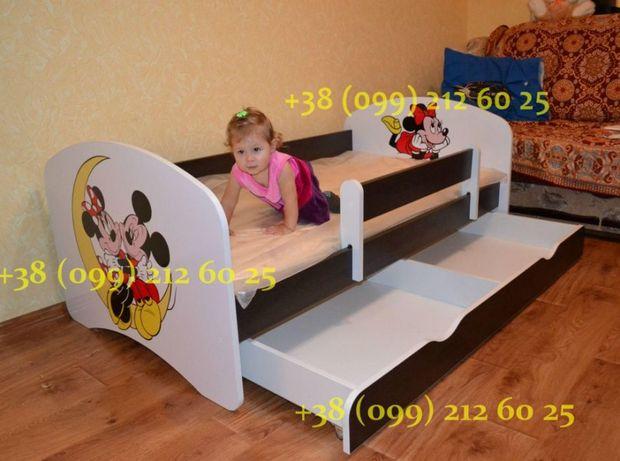 Детская кровать! Съемный защитный бортик! Бесплатная доставка!