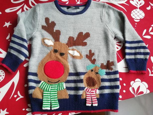 Sweter świąteczny roz. 110