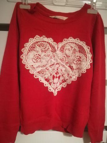 Czerwony sweterek H&M r 134 /140
