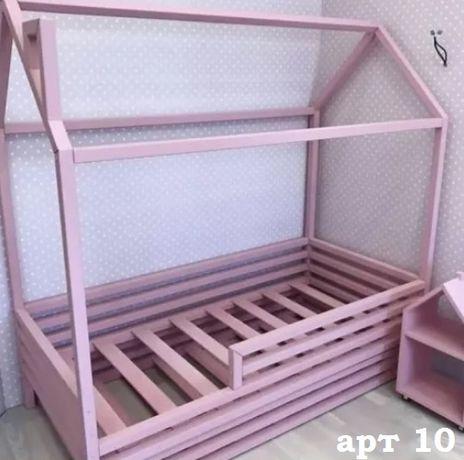 Кровать домик детская из ольхи.Дитяче ліжко будиночок арт 15.дом