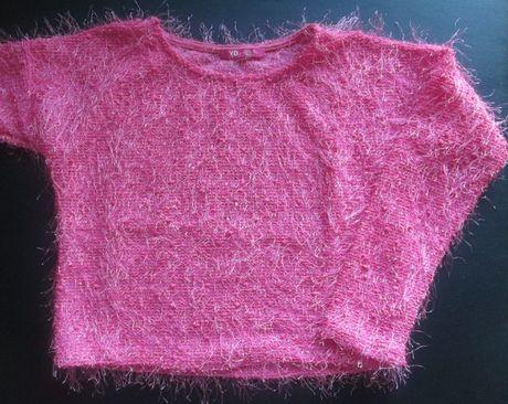 Crop top rosa de criança