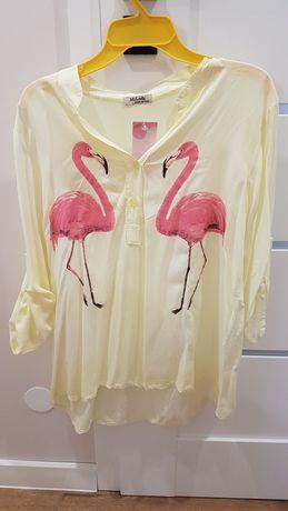 Bluzka nowa flamingi wloska wiskoza