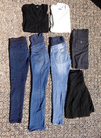 Zestaw ubrania ciążowe spodnie H&M C&A Esprit spódnica sweter r.36/38