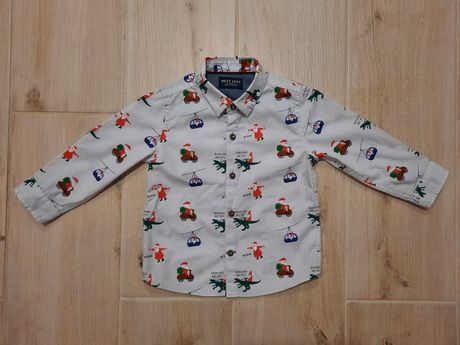 Новогодняя нарядная рубашка next 12-18, 86