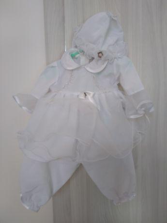 Ubranko do chrztu dla dziewczynki rozmiar 62, 4-czesciowe