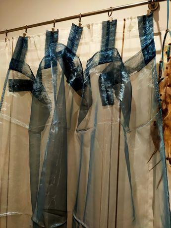 Firany zasłony niebieskie jysk