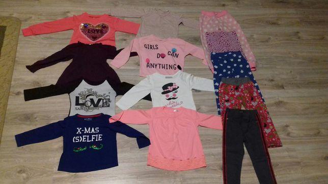 Bluzeczki, koszulki,spodnie,geterki dla dziewczynki 86,92,98,104