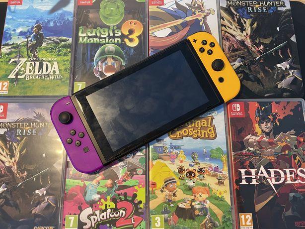 Nintendo switch zestaw, duzo gier, stan idealny