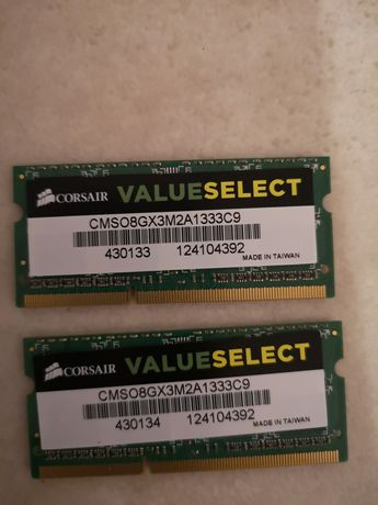 Corsair - CMSO8GX3M2A1333C9 - Mémoire RAM - DDR3 SO 1333 - 8 Go 2 x 4
