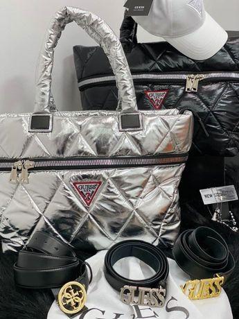 Женский НАБОР Guess сумка!Ремень кожаный,Кепка!Лучший подарок любимой!