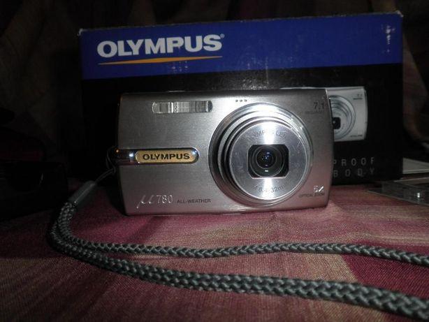 фото аппарат Olimpus MJU 780 Silver с коробкой и документами комплект