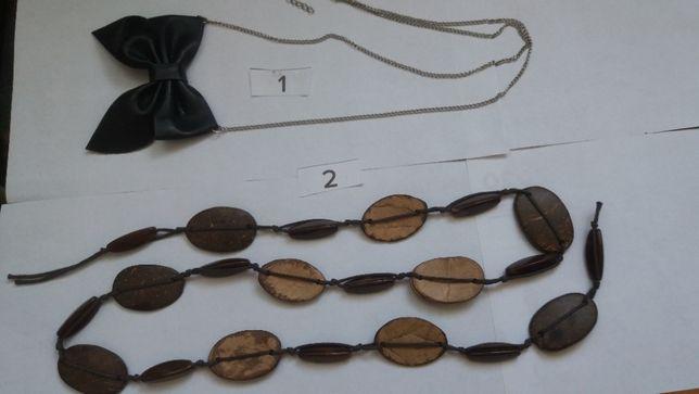 Starocie - łańcuszek z kokardką, naszyjnik art deco vintage