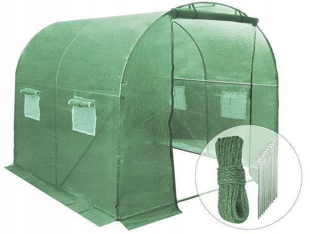 Namiot ogrodniczy tunel foliowy folia szklarnia ogrodowa 4m² (2x2)