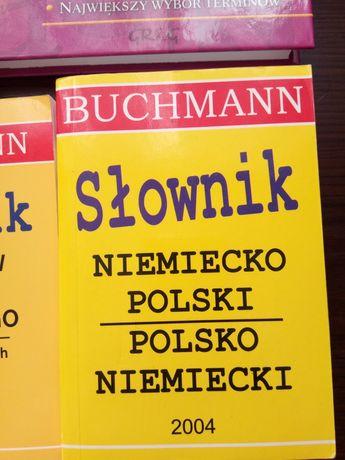 Słowniki polsko-niemieckie 3 szt. różne