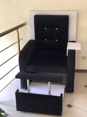Педикюрное кресло, замш
