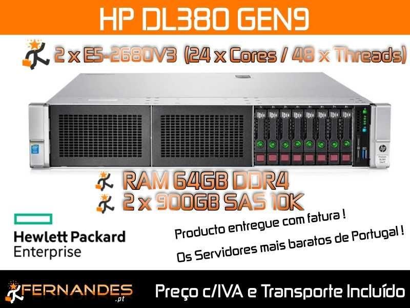 HP Proliant DL380 G9   48 x vCPU e 64GB DDR4   Melhor preço do MERCADO