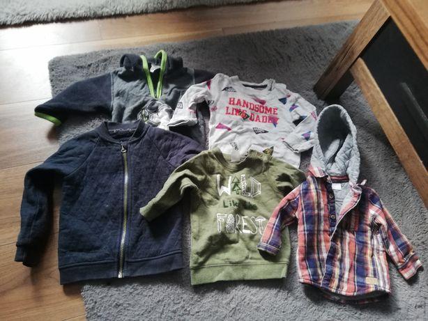 Zestaw chłopięcy spodnie bluzy swetry 3- 10mcy