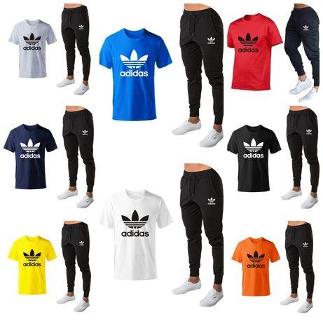 Dres zestaw meski spodnie tshirt koszulka Adidas m l xl xxl