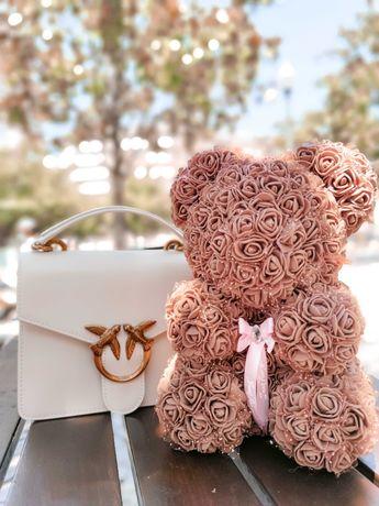 Prenda com 436 Rosas | Urso de Rosas com OFERTA Postal Personalizável