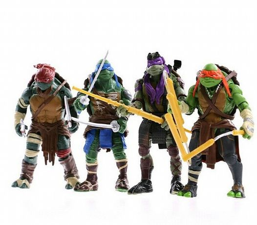 Tartarugas Ninja Brinquedo conjunto 4 figuras Ninja Turtles bonecos