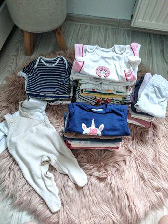 Paka ubranek niemowlęcych 53szt.(rozmiary 56-62)