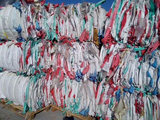 Worki Big Bag Używane 90/90/134cm Czyste do zboża rękaw góra i dół