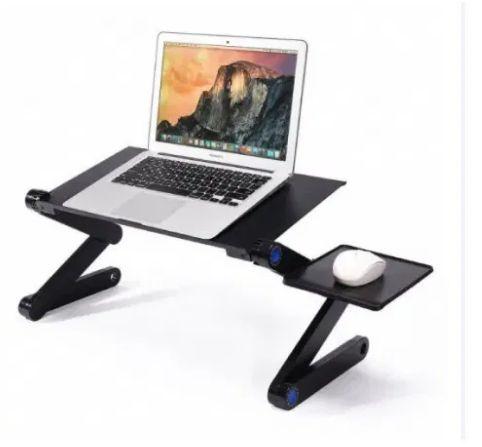 Черный стол Laptop Table T8 для ноутбука Трансформер
